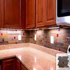 elegant red glass tile backsplash kitchen idea rusty slate subway mosaic picture home depot canada bathroom