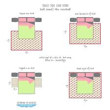 queen size bed rug rugs measuring area rug size guide queen bed by design wotcha how queen size bed rug