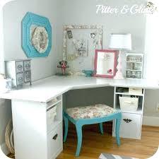 white corner desk. Beautiful Corner White Craft Desk Corner Photo 3 Of 6 Best Ideas About  Throughout White Corner Desk