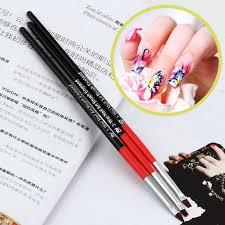 3pcs Nail Art Drawing Painting Set Tool Brushes Design UV Gel ...