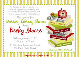 Book Or Library Themed Gender Neutral Printable Baby Shower Library Themed Baby Shower Invitations