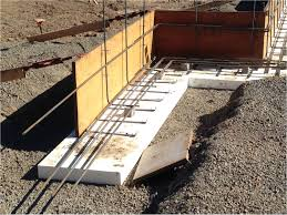 Making Cement Forms Placing A Concrete Foundation On Rigid Foam Insulation