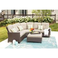 hampton bay outdoor furniture bay 4 piece wicker patio sectional set with beige bay outdoor furniture