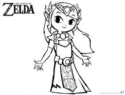 Legend Of Zelda Coloring Pages Arenda Stroy