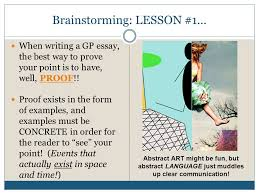 writing the aice general paper an overview ppt 6 brainstorming