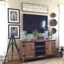 Tv stand decor Decorating Ideas Like The Wood Color Of Tv Stand Pinterest 19 Amazing Diy Tv Stand Ideas You Can Build Right Now Our New Digs