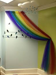 Nice Rainbow Bedroom Accessories Finished Tulle Birds And Foam Cloud Complete  With Raindrop Crystals Based On The