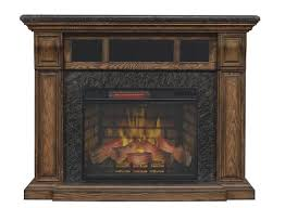 chimneyfree 57 emerado electric fireplace entertainment center in old world pecan at menards