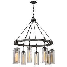 troy lighting union 8 light graphite square pendant with smoke glass shade