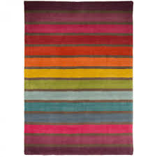 illusion candy stripe wool rugs pink multi