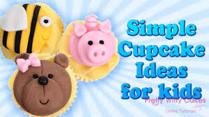 How To Make Simple Kids Cupcake Toppers Pretty Witty Cakes Youtube