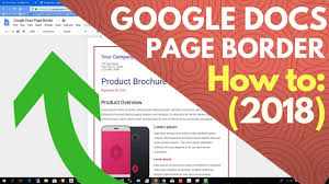 Google Docs Border Template How To Add Page Border
