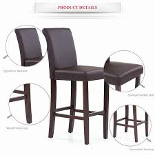 faux leather restaurant dining chairs. us ikayaa faux leather bar pub dining chairs high back wood frame padded kitchen side parson restaurant