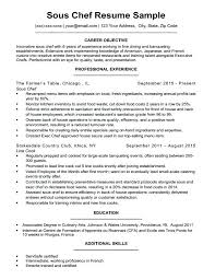 Chef Sample Resume Sous Chef Resume A Download Sample Chef Sample ...