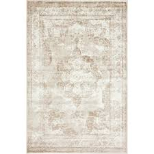 unique loom sofia beige 4 ft x 6 ft rug