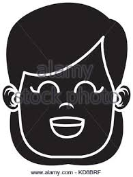 Cute Girl Face Icon Vector Illustration Graphic Design Stock Vector