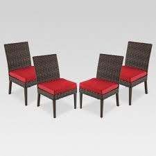 wicker patio dining chairs.  Wicker Halsted 4Pack Wicker Armless Patio Dining Chair  Threshold Intended Chairs S