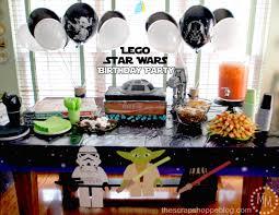 Star Wars Lego Decorations Lego Star Wars Birthday Party The Scrap Shoppe