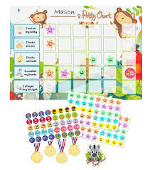 Toilet Chart For Toddlers Potty Training Reward Chart Pack Toilet Training Chart For Toddlers Children With 141 Stickers Reward Medals Completion Badge For Boys Girls By