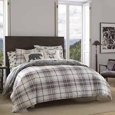 grey plaid comforter. Brilliant Comforter Eddie Bauer Alder Plaid Comforter Set On Grey