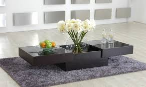 designer coffee tables stylish accessories contemporary coffee table with storage and glass top