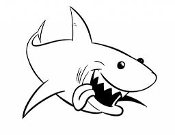 Small Picture Best Great White Shark Coloring Pages Pictures New Printable