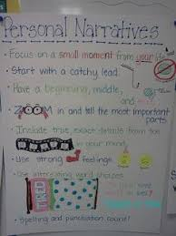 Person Narrative Anchor Charts Lucy Calkins Unit Of Study