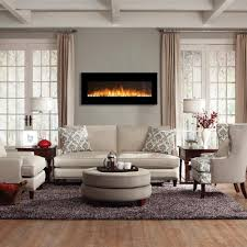 image of milan 50 inch pebbles electric wall mounted fireplace black in wall mounted fireplace