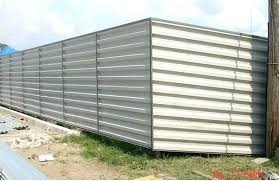 image of corrugated metal fence panels wood corrugated metal panel fence creative building supply diy