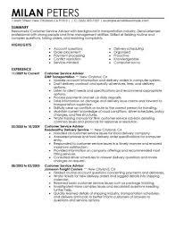 Service Advisor Resume Under Fontanacountryinn Com