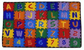 com large classroom kids rug educational abc puzzle area rug 3ft x 5ft new design 9 msrp 99 99 non slpip