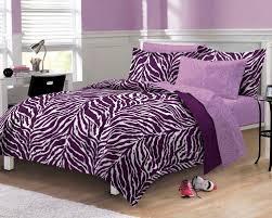 purple zebra print comforter set