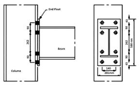 Behavior Of Extended End Plate Steel Beam To Column