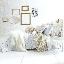 white and gold bed sets glam polka dot reversible set bed bath amp beyond white and gold bed white gold bedding sets