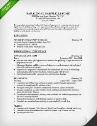 Resume Example For Paralegal B U S I N E S S Pinterest Writing