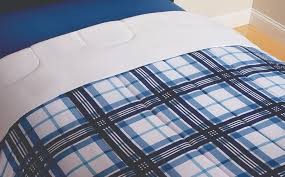 mainstays blue plaid bed in a bag bedding set king comforter bedroom xmas new