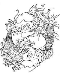 Japanese Koi Coloring Pages Download And