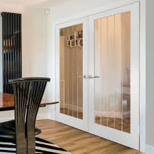 interior clear glass door. JBK Cottage 1 Light White Primed Door Pair With Etched Lines On Clear Glass. # Interior Glass H