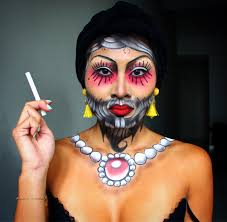 face painting creative and makeup artist melbourne area bearded woman makeup look