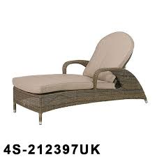 sus rattan sun lounger with 2 cushions