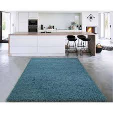 cozy collection turquoise 5 ft x 7 ft indoor area rug