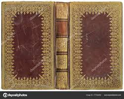 old open book leather cover circa 1895 perfect detail size stock photo