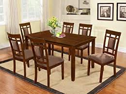 image unavailable image not available for color the room style 7 piece cherry finish solid wood dining table set