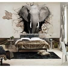 china lifelike animal 3d elephants wallpaper customized living room background wall mural home decoration