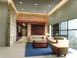 Interior:Modern Style Decoration Lobby Ceiling Lighting Idea Modern Simple  Loby Design With Blue Rug