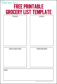 grocery list template printable organized grocery list 3 free printable templates ask anna