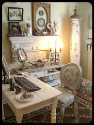 Inspired Me To Renew My Home Office Space This Just Goes Show That  Modern Necessities Can Be Mixed Into The Vintage Romantic Look Of Shabby Chic Pinterest