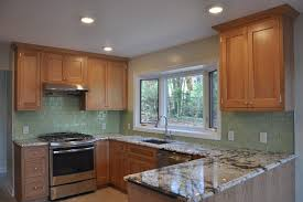 3 x 6 glass subway tile color bambootraditional kitchen new york