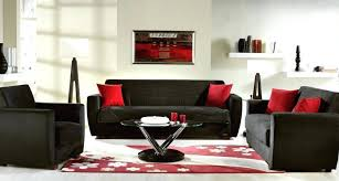 red and black lounge decor ideas photo