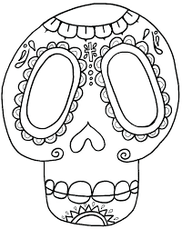 Day Of The Dead Coloring Page Fashionadvisorinfo